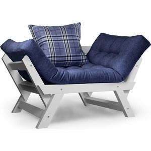 Кресло Anderson Отман эмаль-синяя рогожка.