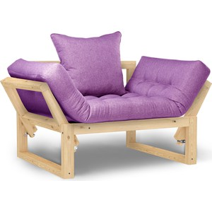 Кресло Anderson Амбер сосна-фиолетовая рогожка.