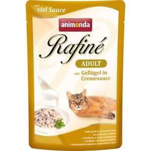 Паучи Animonda Rafine Adult with Poultry in Cream Sauce с домашней птицей в сливочном соусе для кошек 100г (83792)