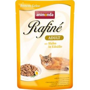 Паучи Animonda Rafine Adult with Chicken in Royale с курицей в яичном пудинге для кошек 100г (83796)