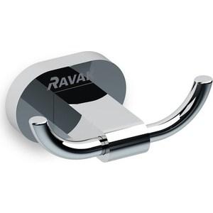 Крючок двойной Ravak Chrome хром (X07P186)