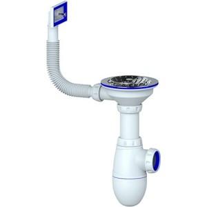Сифон для кухонной мойки Unicorn D40 чашка из нержавеющей стали D115, 1 1/2, без отвода в канализацию (B410)
