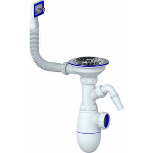 Сифон для кухонной мойки Unicorn D40 чашка из нержавеющей стали D115, штуцер, без отвода в канализацию (B430V) все цены