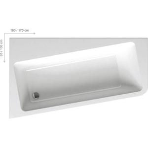 Акриловая ванна Ravak 10° L 160х95 левая (C831000000)