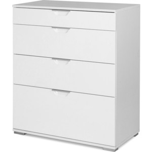 Комод Вентал Арт Лайн 1 белый/белый глянец