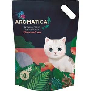 Наполнитель AromatiCat Яблоневый сад силикагелевый с ароматом яблока для кошек 10л (АС210)