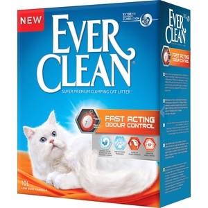 Наполнитель Ever Clean Fast Acting мгновенный контроль запахов комкующийся для кошек 10л