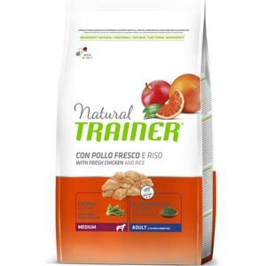 Сухой корм Trainer Natural Medium Adult with Fresh Chicken and Rice с курицей и рисом для взрослых собак средних пород 3кг