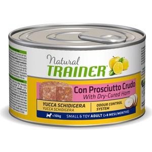 все цены на Консервы Trainer Natural Small & Toy Adult with Dry-Cured Ham с сыровяленой ветчиной для взрослых собак мелких и миниатюрных пород 150г онлайн