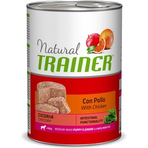 Консервы Trainer Natural Medium-Maxi Puppy & Junior with Chicken с курицей для щенков и юниоров средних крупных пород 400г