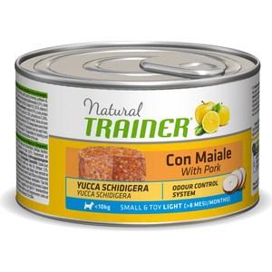 Консервы Trainer Natural Small & Toy Light with Pork со свининой для взрослых собак мелких и миниатюрных пород с избыточным весом 150г