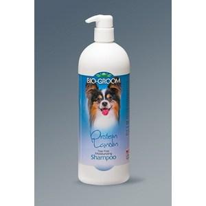 Шампунь-кондиционер BIO-GROOM Protein-Lanolin Shampoo с протеином-ланолином без слез для собак 946мл (20032)