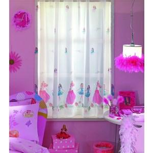 Тюль портьерная детская TAC Танцующая Барби 300x205 белый (GS0036)