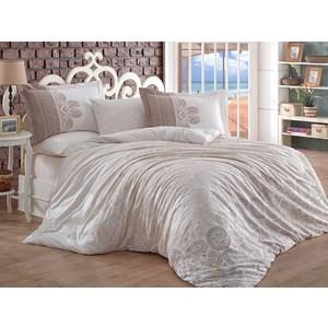 Комплект постельного белья Hobby home collection Евро, поплин Irene бежевый