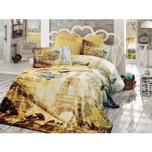 Комплект постельного белья Hobby home collection Евро, поплин 3D Vivaldi золотой