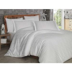 Комплект постельного белья Hobby home collection 1,5 сп, сатин Ekose, кремовое