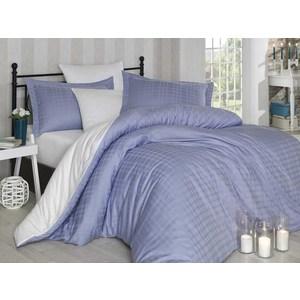 Комплект постельного белья Hobby home collection 1,5 сп, сатин Ekose, лилово-белый