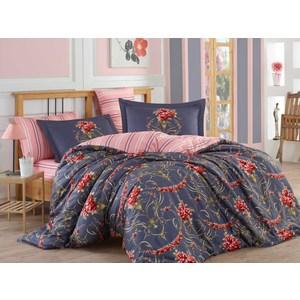 цена Комплект постельного белья Hobby home collection 1,5 сп, сатин Ornella красное онлайн в 2017 году