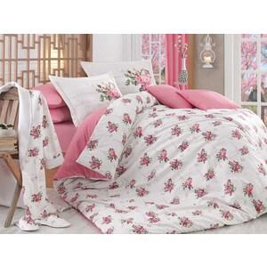 Комплект постельного белья с халатом и тапочками Hobby home collection Евро, поплин Paris Spring розовый