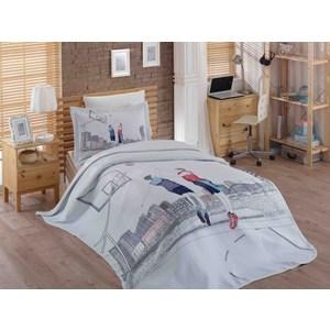 Детское постельное белье Hobby home collection 1,5 сп с покрывалом жаккард San-Diego chromosome b010 r8652