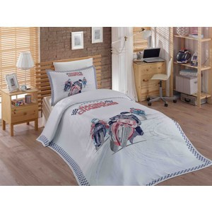Детское постельное белье Hobby home collection 1,5 сп с покрывалом жаккард Le-Man постельное белье 2 сп hobby home collection