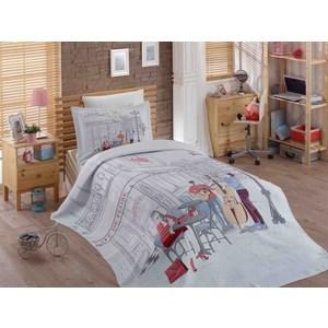 Детское постельное белье Hobby home collection 1,5 сп с покрывалом жаккард Marsele постельное белье 2 сп hobby home collection