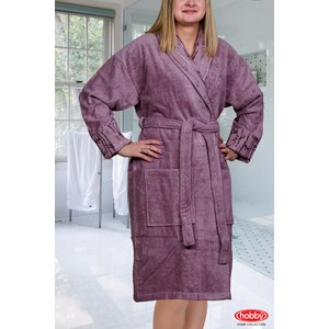 Халат женский Hobby home collection Eliza S Темно-фиолетовый