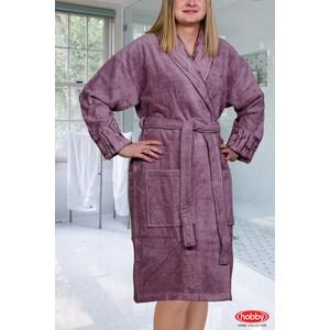 Халат женский Hobby home collection Eliza M Темно-фиолетовый цены онлайн