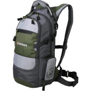 Рюкзак спортивный Wenger NARROW HIKING PACK серый/зеленый (13024415)