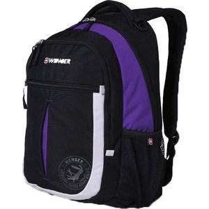 Рюкзак дорожный Wenger MONTREUX чёрный/пурпурный/серебрянный (13852915)
