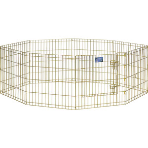 Вольер Midwest Gold Zinc 24 Exercise Pen with Door 8 панелей 61х61h см с дверью позолоченный цинк для животных