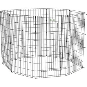 Вольер Midwest Life Stages 48 Black Exercise Pen with Full MAX Lock Door 8 панелей 61х122 h см с дверью - MAXLock черный для животных