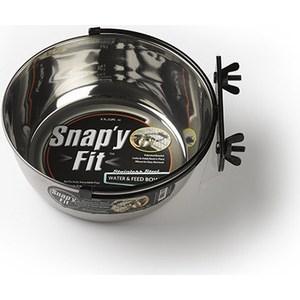 Миска Midwest Snapy Fit Stainless Steel Bowl 2 Quart для клеток и вольеров нержавеющая сталь 1,85л