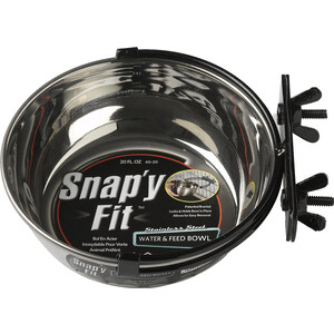 Миска Midwest Snapy Fit Stainless Steel Bowl 20 oz. для клеток и вольеров нержавеющая сталь 600мл