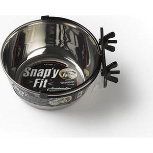 Миска Midwest Snapy Fit Stainless Steel Bowl 1 Quart для клеток и вольеров нержавеющая сталь 950мл