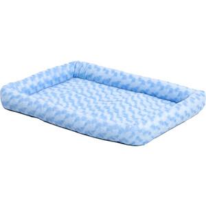 Лежанка Midwest Quiet Time Fashion Pet Bed - Powder Blue 22 плюшевая 56х33 см голубая для кошек и собак лежанка beeztees gisa плюшевая для кошек 56 x 46 x 18 см бежевый