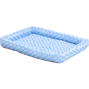 Лежанка Midwest Quiet Time Fashion Pet Bed - Powder Blue 24 плюшевая 61х46 см голубая для кошек и собак лежанка beeztees gisa плюшевая для кошек 56 x 46 x 18 см бежевый