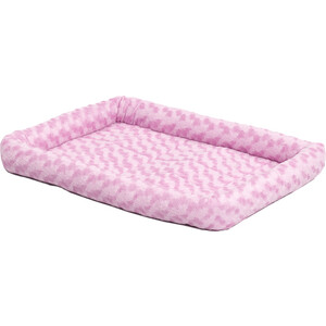 "Лежанка Midwest Quiet Time Fashion Pet Bed - Pink 24"" плюшевая 61х46 см розовая для кошек и собак"