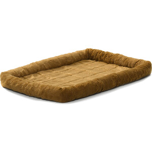 Лежанка Midwest Quiet Time Pet Bed - Cinnamon 42'' меховая 107х66 см коричневая для собак Quiet Time Pet Bed - Cinnamon 42