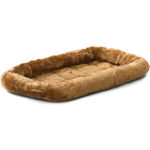 """Лежанка Midwest Quiet Time Pet Bed - Cinnamon 22"""" меховая 56х33 см коричневая для кошек и собак"""