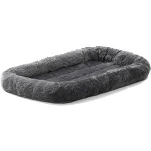 """Лежанка Midwest Quiet Time Pet Bed - Gray 22"""" меховая 56х33 см серая для кошек и собак"""