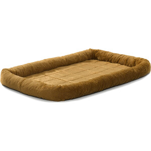 Лежанка Midwest Quiet Time Pet Bed - Cinnamon 30'' меховая 76х53 см коричневая для собак Quiet Time Pet Bed - Cinnamon 30