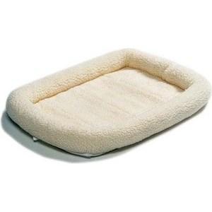 """Лежанка Midwest Quiet Time Pet Bed - Fleece 22"""" флисовая 53х30 см белая для кошек и собак"""