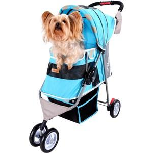 Коляска Ibiyaya New I-Cute Pet Buggy голубая для собак (FS1101S-DB)