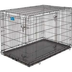 Клетка Midwest Life Stages 42'' Double Door Dog Crate 122x76x84h см 2 двери черная для собак Life Stages 42