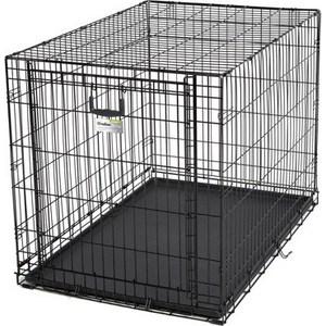 Клетка Midwest Ovation 42 Single Door Crate 111x72x77h см с торцевой вертикально-откидной дверью черная для собак