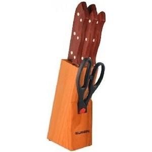 Набор ножей на подставке 7 предметов Goldenberg (GB-01126)