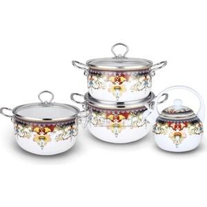 Набор эмалированной посуды 7 предметов Kelli (KL-4442) набор кухонных принадлежностей 5 предметов kelli kl 2114