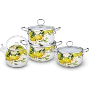 Набор эмалированной посуды 7 предметов Kelli (KL-4446) цена