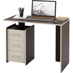 Стол Мастер Слим-1 (венге/дуб молочный) МСТ-ССЛ-01-ВМ-ДМ-16 стол письменный мастер экстер 9 венге дуб молочный мст стэ 09 вм дм 16